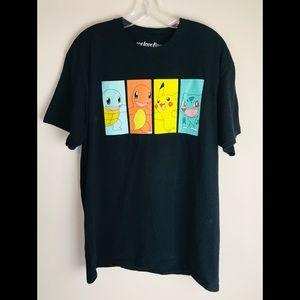 Pokemon T-Shirt Black Graphic Tee Men's Size Large